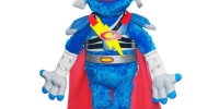 <strong>LOL Elmo ($39.99)  & Flying Super Grover ($32)</strong><br />  These two novelty dolls may not do that much, but they do it with such magic and good humor that you have to smile.  Tickle Elmo and he just cracks up, laughing and shaking.  It is like watching cats on YouTube.  So adorable, so soft, must keep watching.  Flying Super Grover (shown above), debuts in a kind of superhero get-up - if you can imagine a superhero with a red cape, blue tights, red nose and a Romanesque bronze helmet.  His gimmick is that when you pretend to make him fly he knows (most of the time) if he is going up, up, up or down, down, down, and tells you.  He jokes, makes sound affects and is a fun play companion.